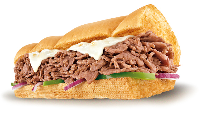 subway steak and cheese calories